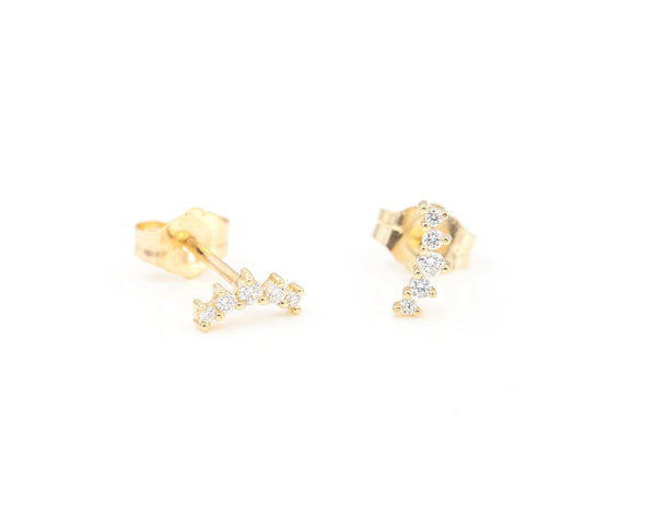 Everett Fine Jewelry Henley Tiny Diamond Studs