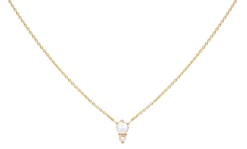Everett Fine Jewelry Odelia Rose Cut Charm Necklace