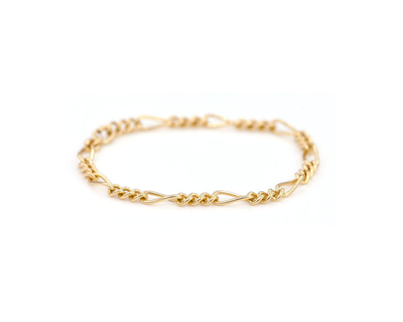 Everett Fine Jewelry Figaro Chain Ring