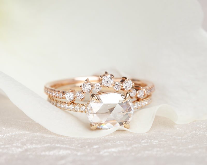 1.06-Carat Rose Cut Oval Diamond Ring