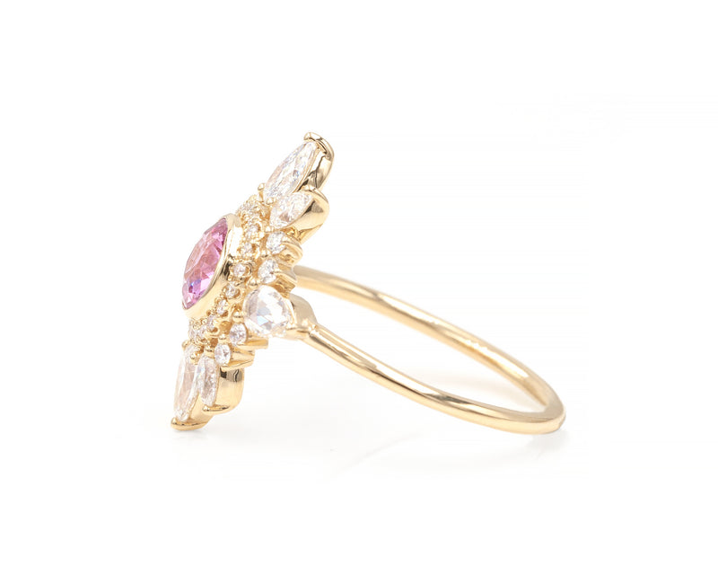 Pink Sapphire Gravity Ring