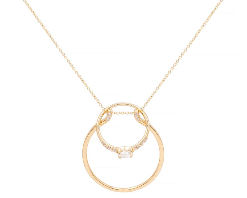 Large Ring Holder Necklace