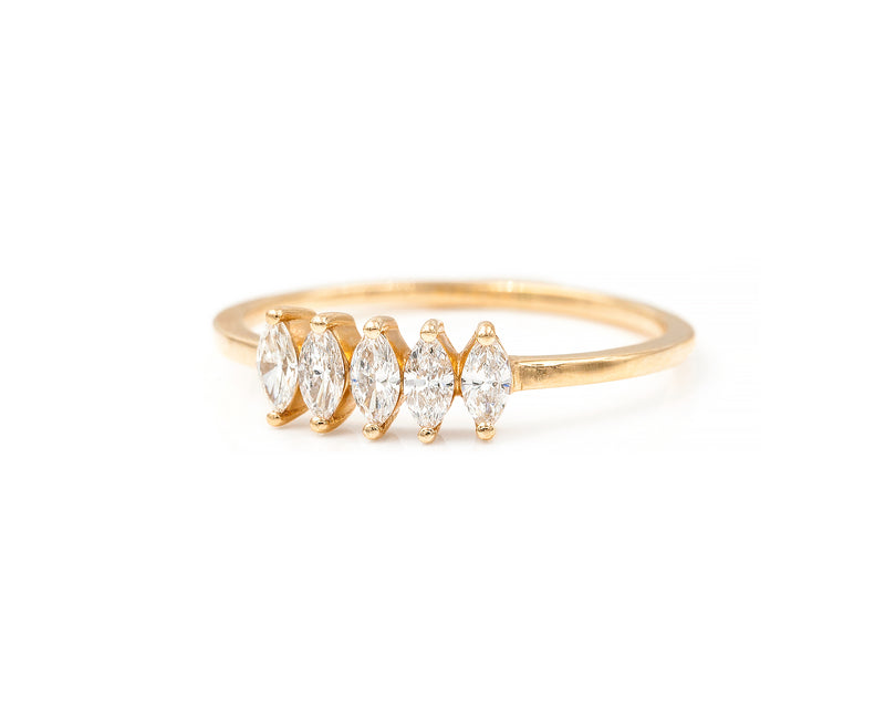 June Ring (14K Yellow Size 6.5 in Stock)