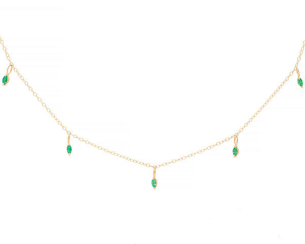 Emerald Iris Necklace