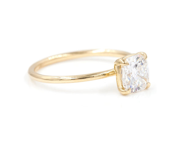 Everett Fine Jewelry 1.00 Carat Cushion Solitaire Ring