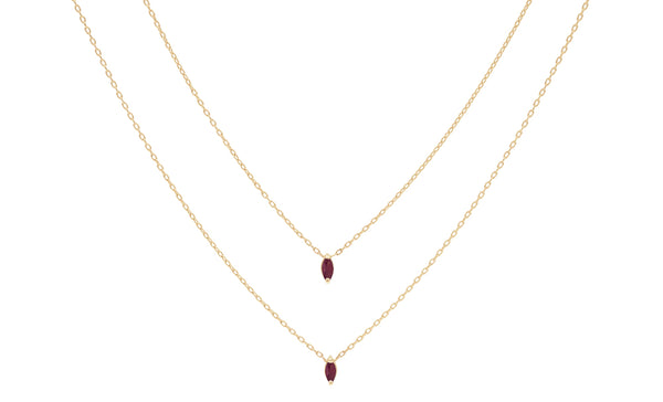 Everett Fine Jewelry Eclipse Ruby Necklace