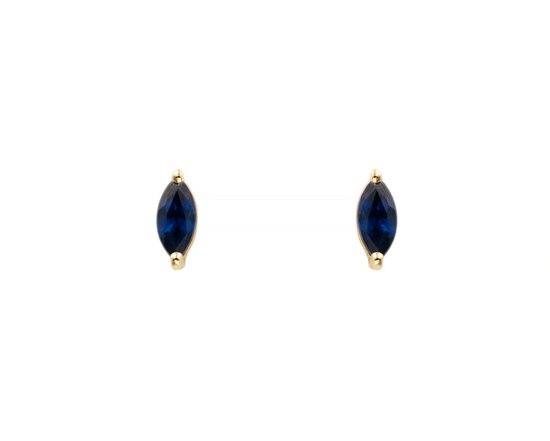 Sapphire Marquise Studs