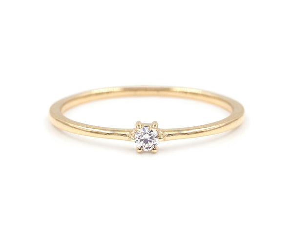 Everett Fine Jewelry Single Diamond Stacker
