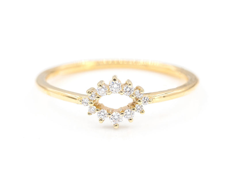 Everett Fine Jewelry Cera Tiny Diamond Ring