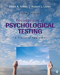 Foundations of Psychological Testing: A Practical Approach 5th Edition by  Leslie A  Miller (eBook PDF)