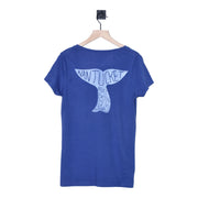 Women's Nantucket Boat Basin Vneck Whale Tail Tee