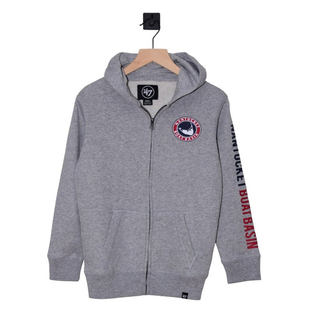 CATCH OF THE DAY! Nantucket Boat Basin Rundown Full Zip Youth Hood