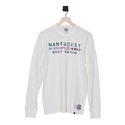 Nantucket Boat Basin Flags Two Peat Scrum LS Tee