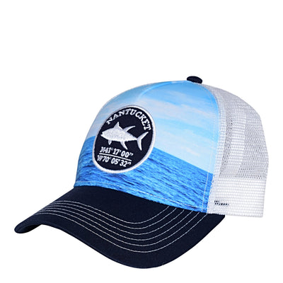 Nantucket Waves Meshback Trucker
