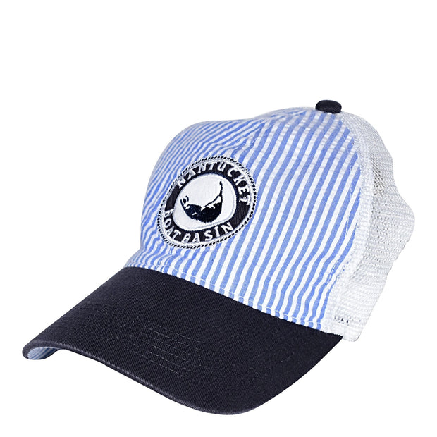 Nantucket Boat Basin Seersucker Washed Snap Trucker