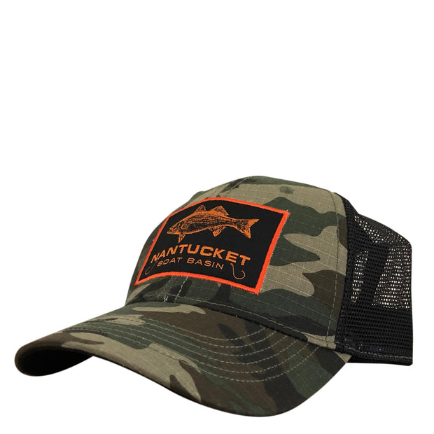 Nantucket Striper Camo Ripstop Trucker
