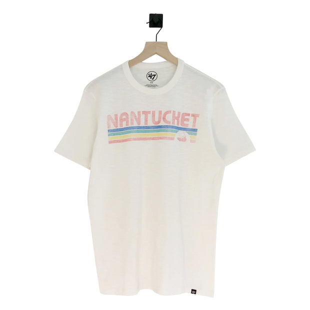 Nantucket Multi Stripe Scrum SS Tee