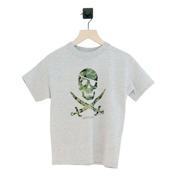 Nantucket Pirate Sword Camo SS Tee