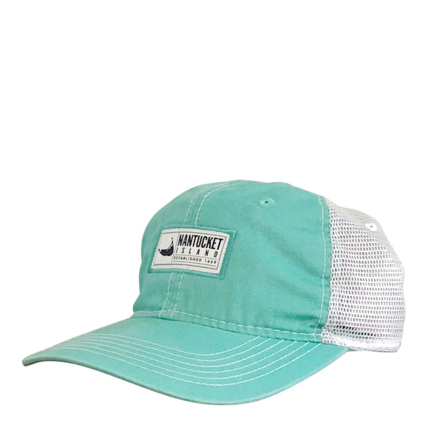 Nantucket Island Label Trucker
