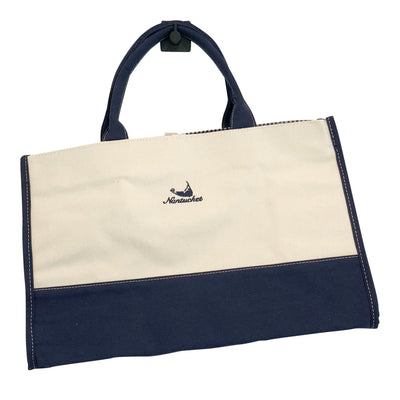 Canvas Nantucket Print Medium Tote