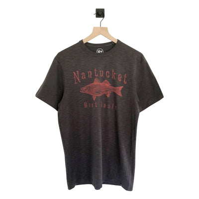 Nantucket Boat Basin Striper Grit Scrum Tee