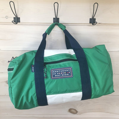 Nantucket Boat Basin Sail Square Duffle - Medium Size