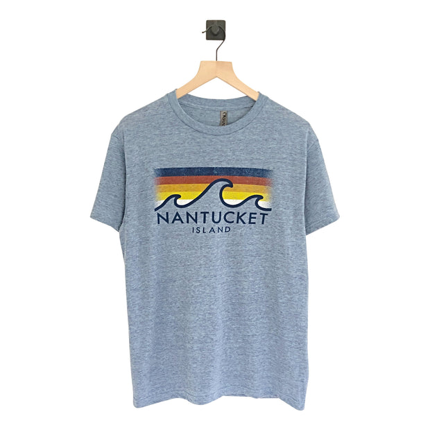 Nantucket Island Faded Wave SS Tee