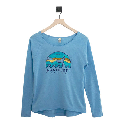 Nantucket Whale Hi/Low Jersey Womens LS