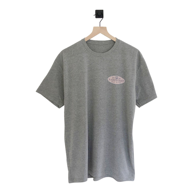 Nantucket Boat Basin Pink Oval SS Tee