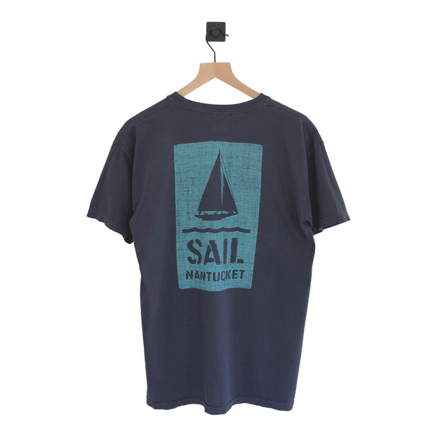 Nantucket Burlap Box Sailboat Pigments SS Tee