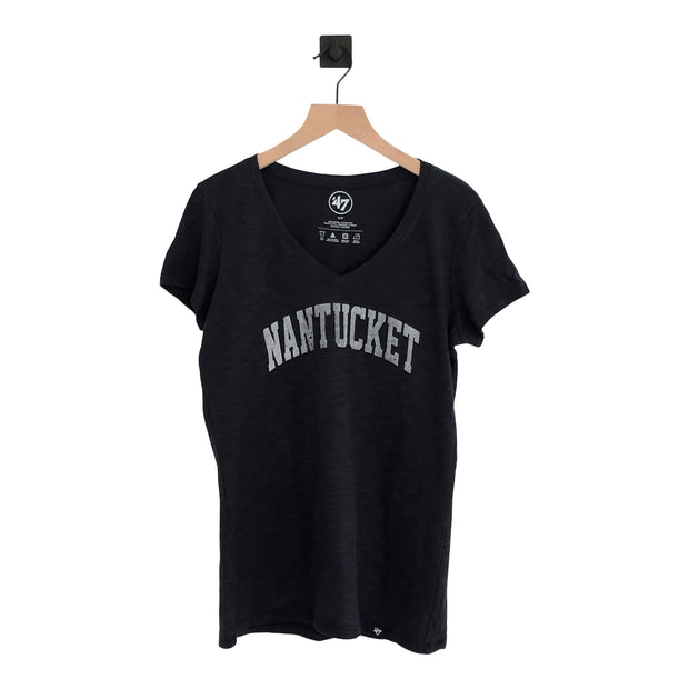 Nantucket Arch & Beaches Two Peat Vneck Scrum Tee
