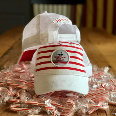 2019 Stroll Stripe and Patch Washed Trucker Hat
