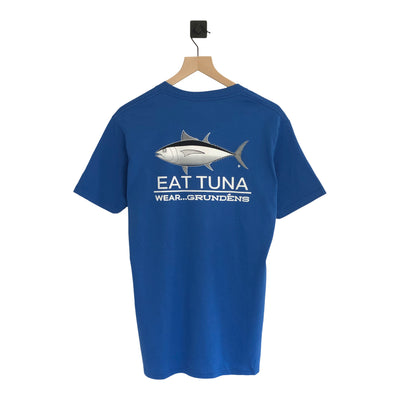 Nantucket Boat Basin GRUNDÉNS Eat Tuna SS Tee