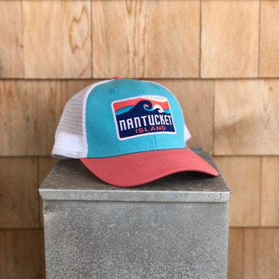 Nantucket Wave Mesh Trucker