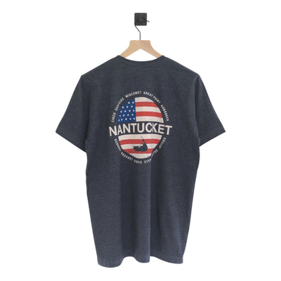 Nantucket Flag Beaches SS Tee