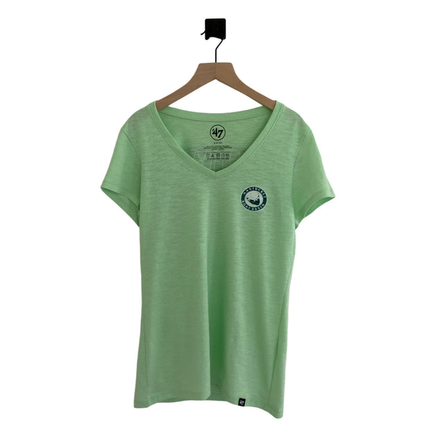 Nantucket Boat Basin Whale Tail SS Vneck Scrum
