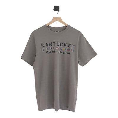 Nantucket Boat Basin Nautical Flags Flanker SS Tee