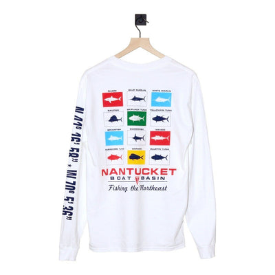 Nantucket Boat Basin Catch and Release LS Tee