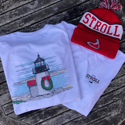 Nantucket Stroll Brant Lighthouse Short Sleeve Tee