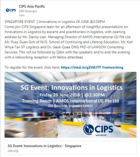 CIPS SG Innovations in Logistics
