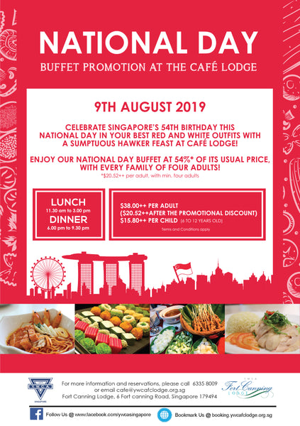 National Day at Café Lodge located at YWCA Fort Canning Lodge