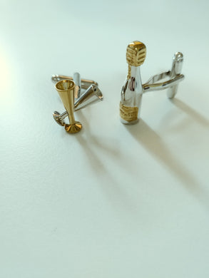 Champagne and flute cuff links