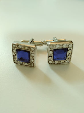 Blue and Diamante Cufflinks