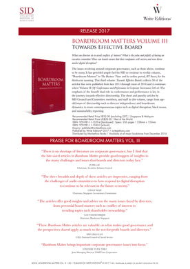 Boardroom Matters Vol 3: Towards Effective Boards