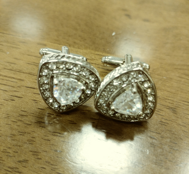 Diamante Like Cuff Link