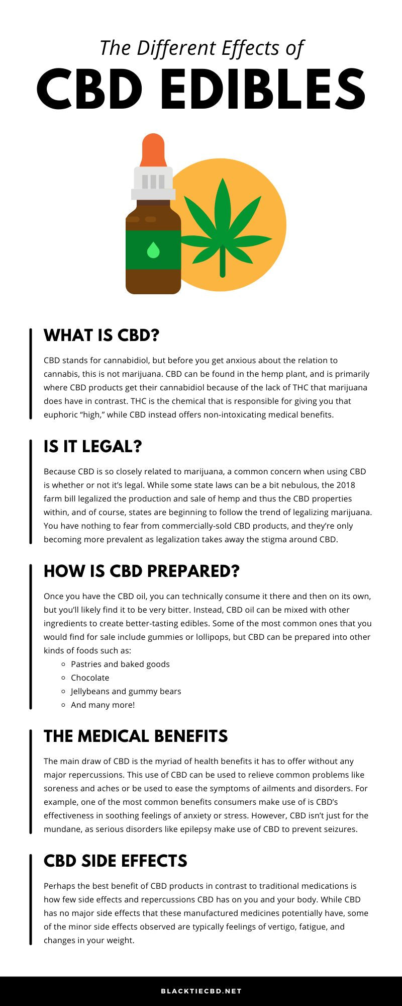 The Different Effects of CBD Edibles