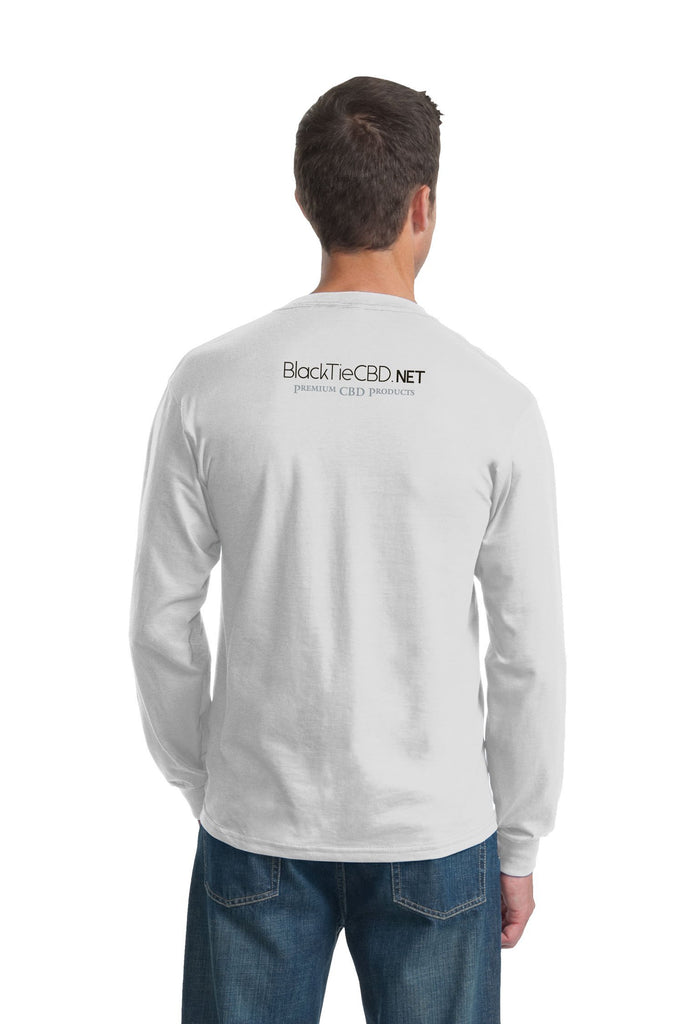White Long Sleeve T-Shirt | Brand Merchandise | BlackTieCBD.NET