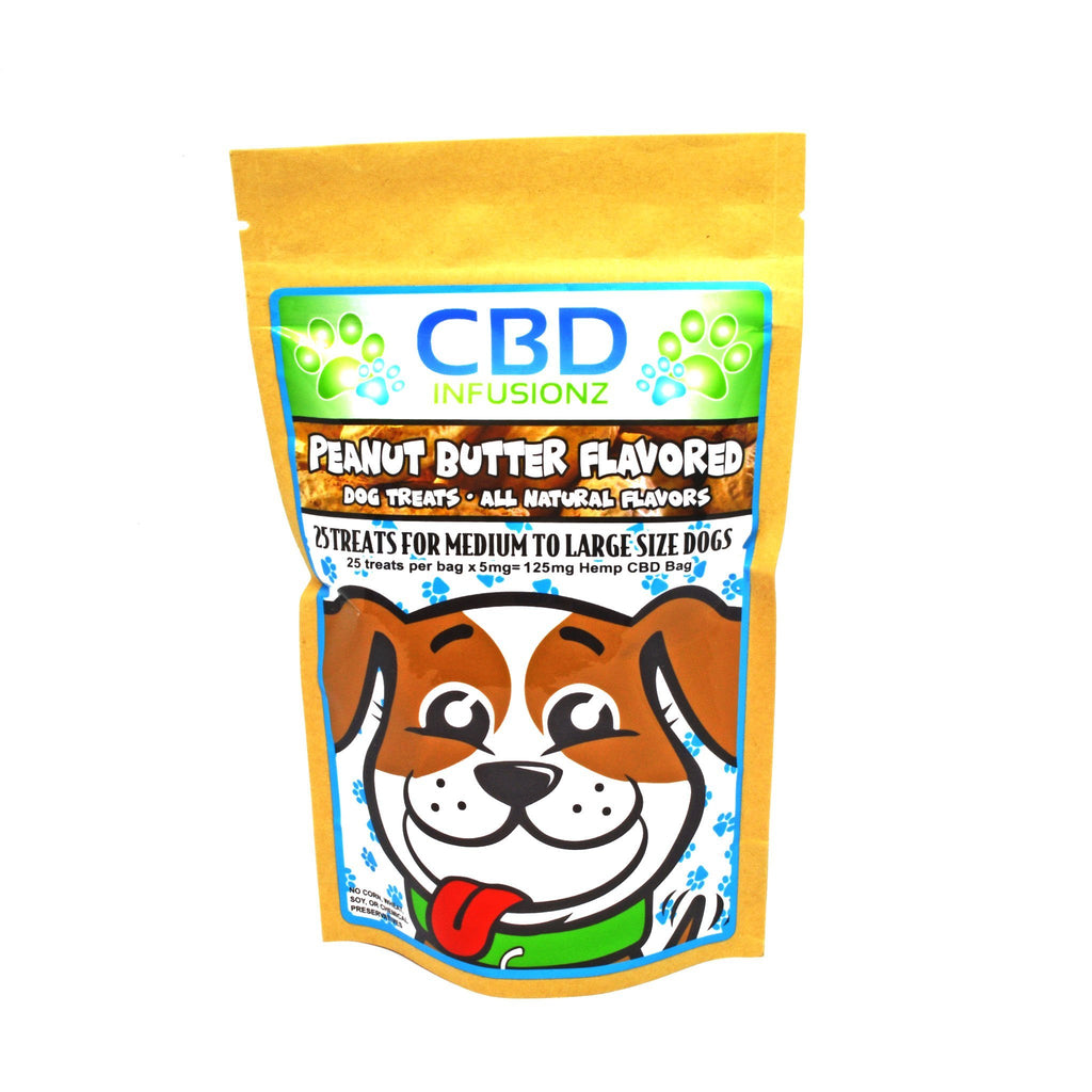 CBD Dog Treats - Peanut Butter Flavor (Medium-Large Breeds)