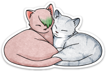 Feline Therapy Sticker