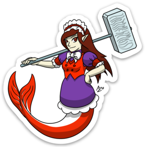 Hammermaid Sticker